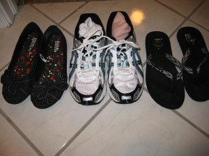 These are the shoes I'm taking for a 6 month trip to Fiji, New Zealand and Hawaii.