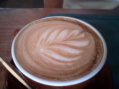 Coffee with the New Zealand Fern Image