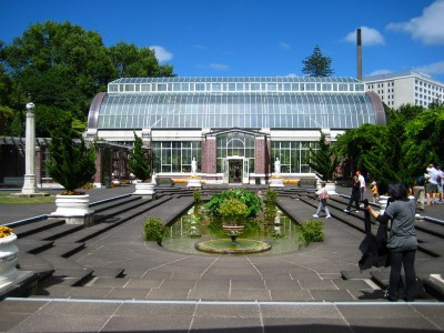 Courtyard in the Wintergarden of the Auckland Domain
