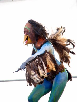 Artist Interpretation of Maori Bird Woman