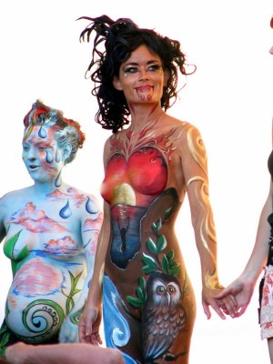 label  body painting pictures
