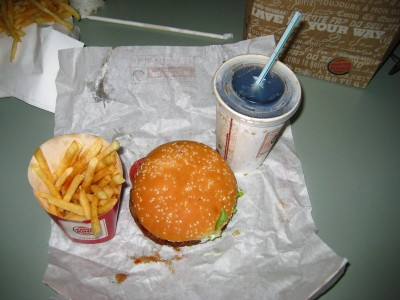 A New Zealand Burger King Value Meal