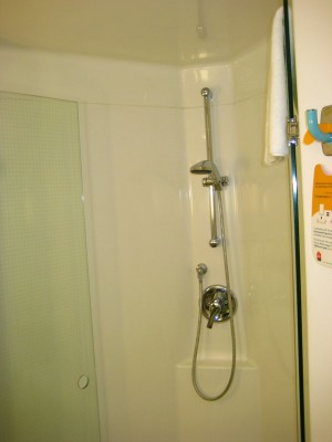 Shower at Ibis Hotel Ellerslie