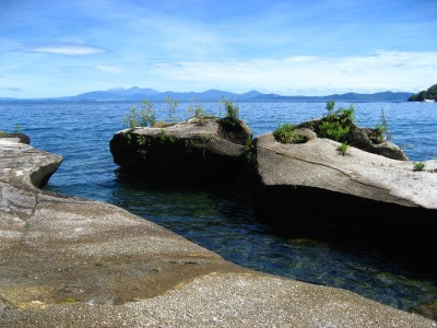 Smooth Lava Rock on Lake Taupo