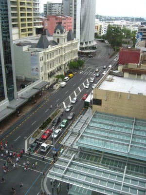 View from Mercure Auckland Hotel